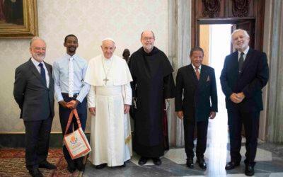 Michael Lapsley reçu en audience par le Pape François