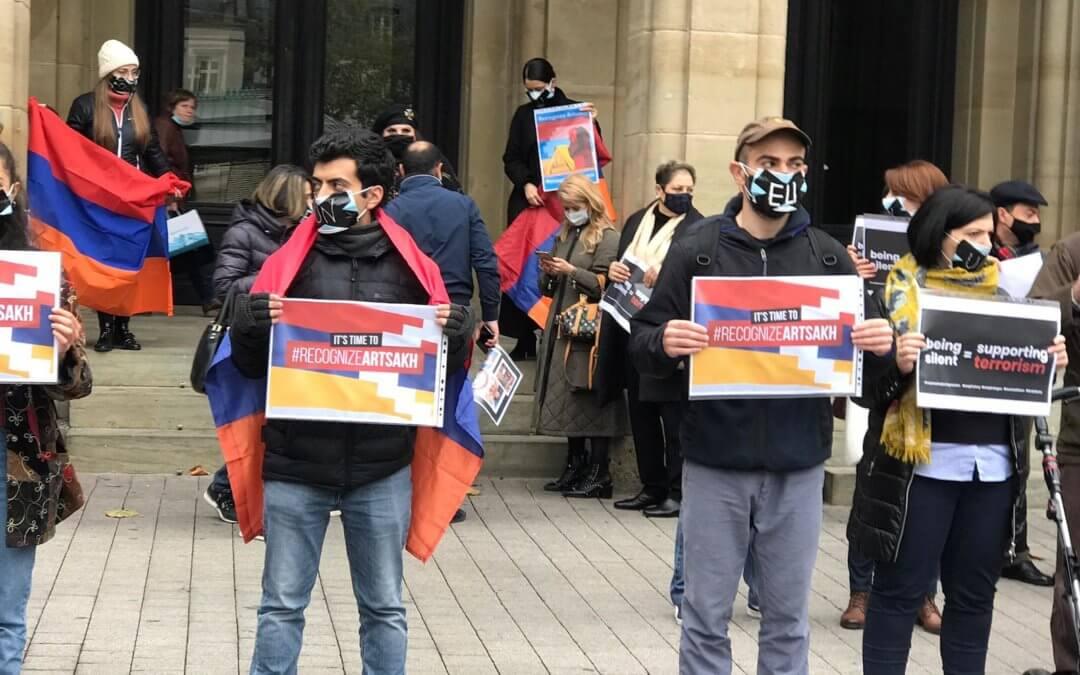 Manifestation d'Arméniens résidant au Luxembourg